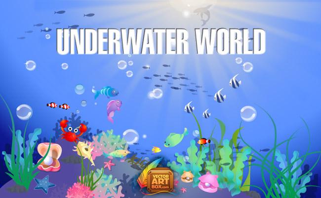 free vector Underwater World