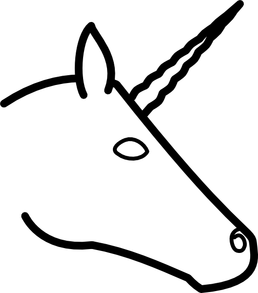 free vector Unicorn Head Profile clip art