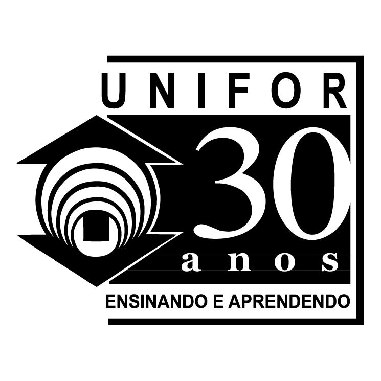 free vector Unifor 30 anos ensinando e apredendo