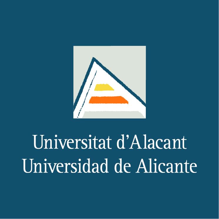 free vector Universidad de alicante 1