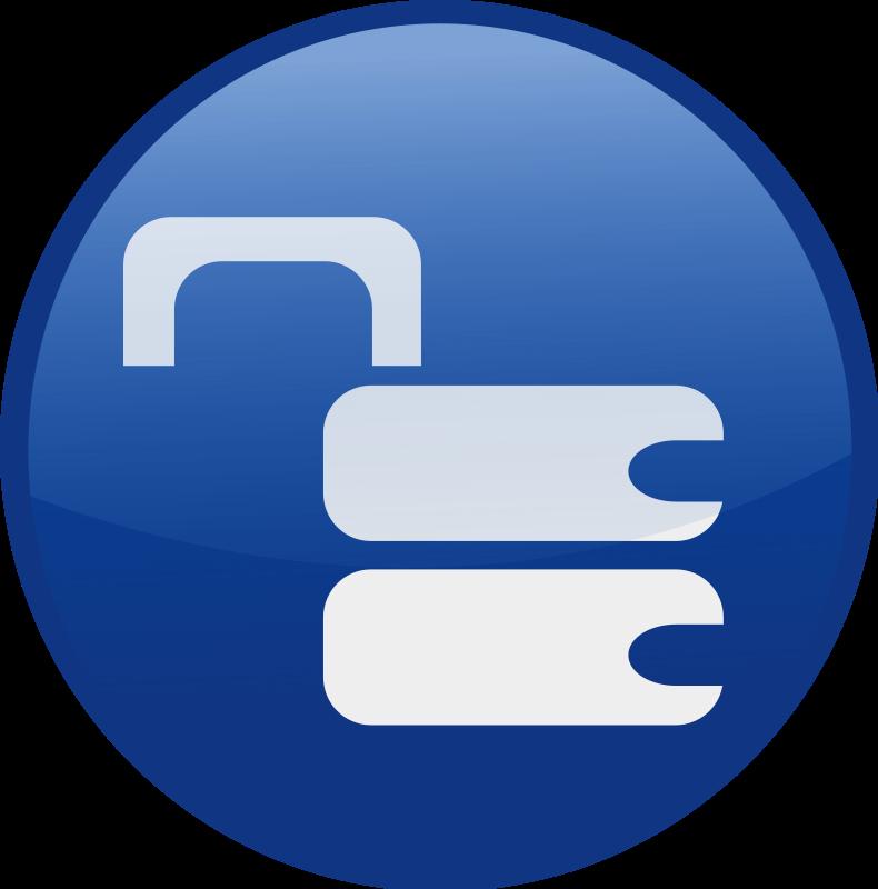 free vector Unlocked-blue