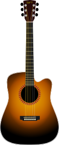 free vector Unplugged Guitar clip art