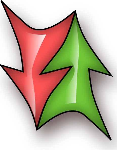 free vector Up And Down Double Arrow clip art