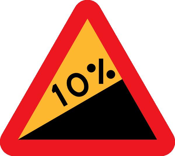 free vector Upward Gradient Roadsign clip art