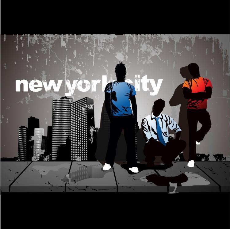 free vector Urban street characters vector material