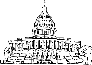 free vector Us Capitol Building Inkpen Style clip art