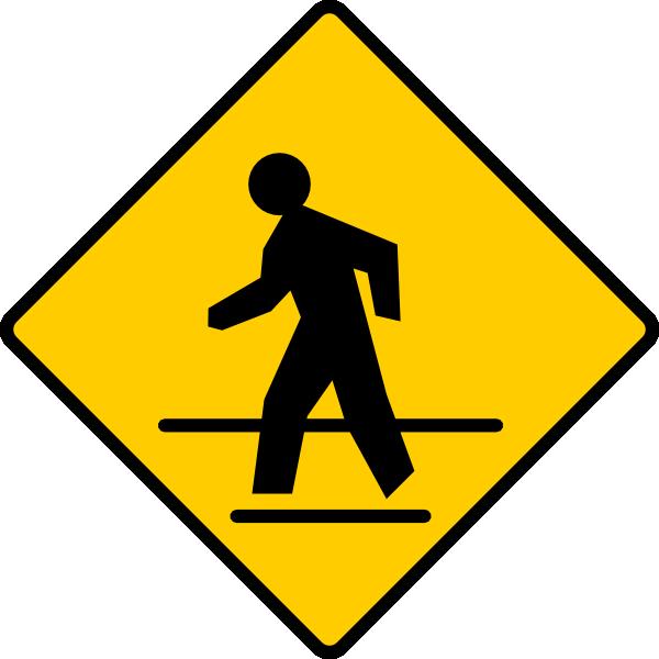 free vector Us Crosswalk Sign clip art