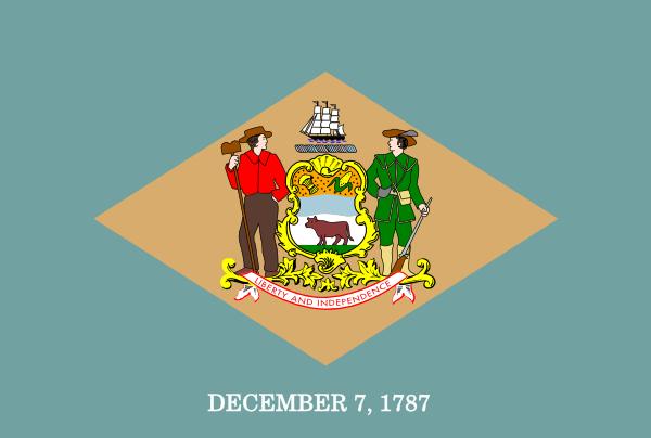 free vector Us Delaware Flag clip art