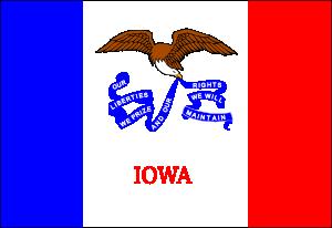 free vector Us Iowa Flag clip art