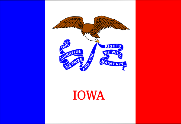 free vector Us Iowa Flag clip art