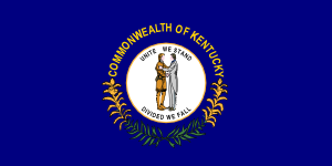 free vector Us Kentucky Flag clip art