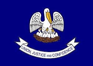 free vector Us Louisiana Flag clip art