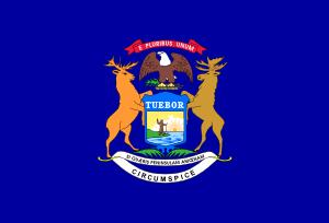 free vector Us Michigan Flag clip art