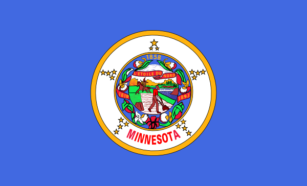 free vector Us Minnesota Flag clip art