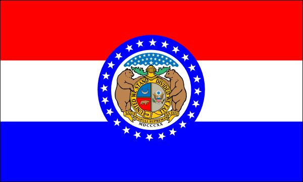 free vector Us Missouri Flag clip art