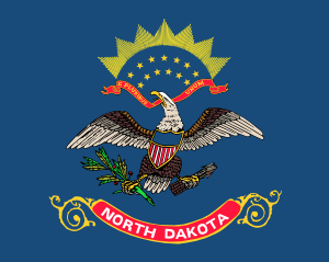 free vector Us North Dakota Flag clip art