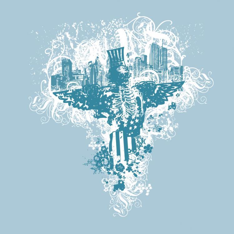 free vector USA Urban Grunge Eagle