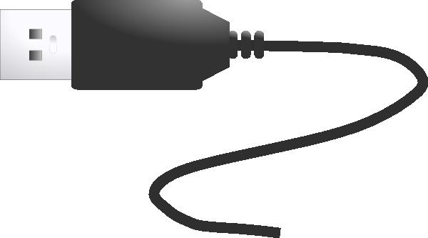 Cartoon Power Cord : Usb plug clip art free vector