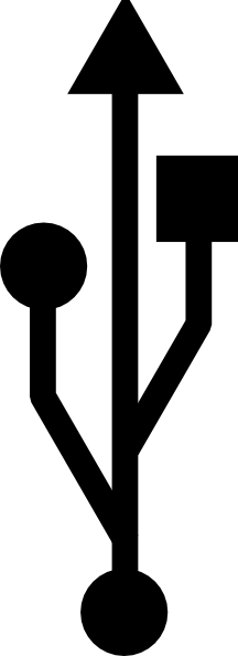 usb symbol clip art free vector 4vector