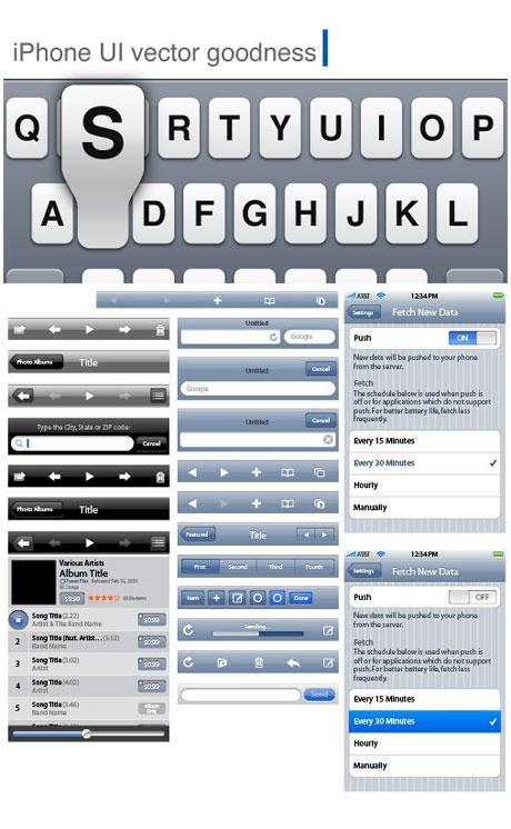 User interface design toolkit iphone ui elements (5795 ...