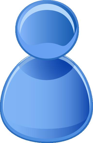 free vector User Symbol Blue clip art