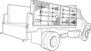 free vector Utility Truck clip art
