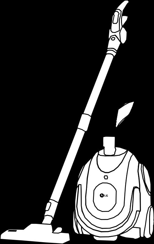 Line Art Photo : Vacuum cleaner line art free vector