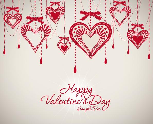 free vector valentine background 02 vector - Free Valentine