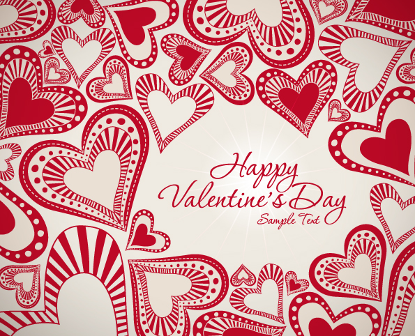 free vector Valentine background 04 vector