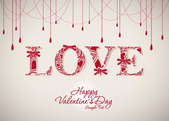 free vector Valentine background 05 vector