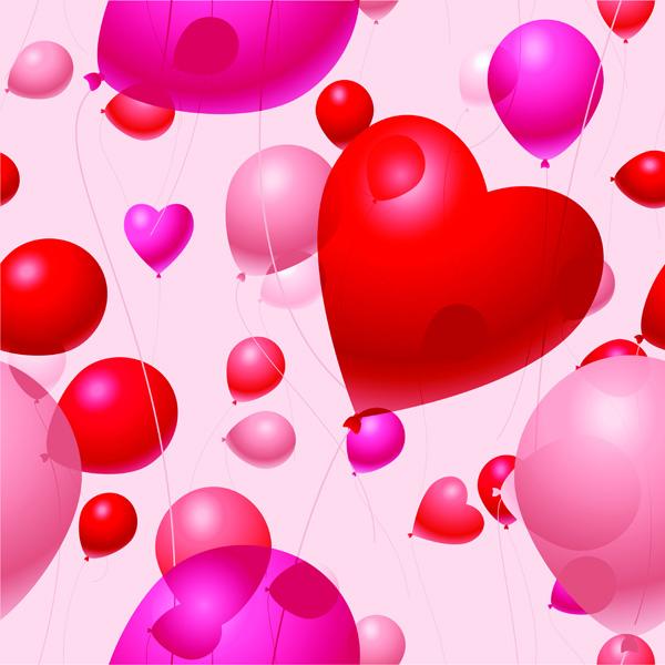 free vector Valentine day balloon vector