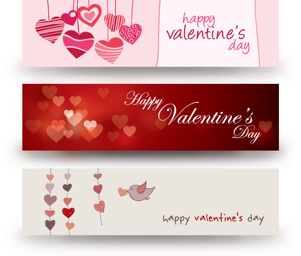Valentine Day Banner Vector Free Vector 4vector