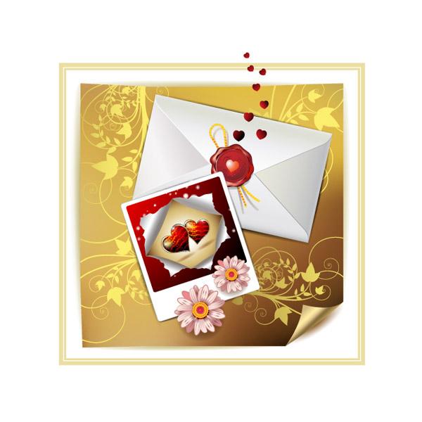 free vector Valentine day clip art letter