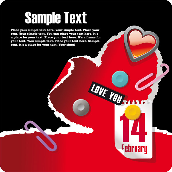 free vector Valentine day creative element vector