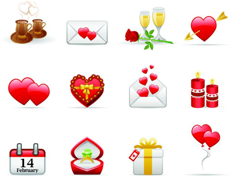 free vector Valentine day elements vector