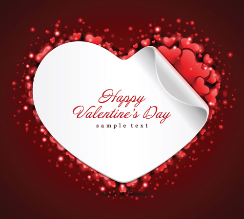 free vector Valentine day greeting card vector
