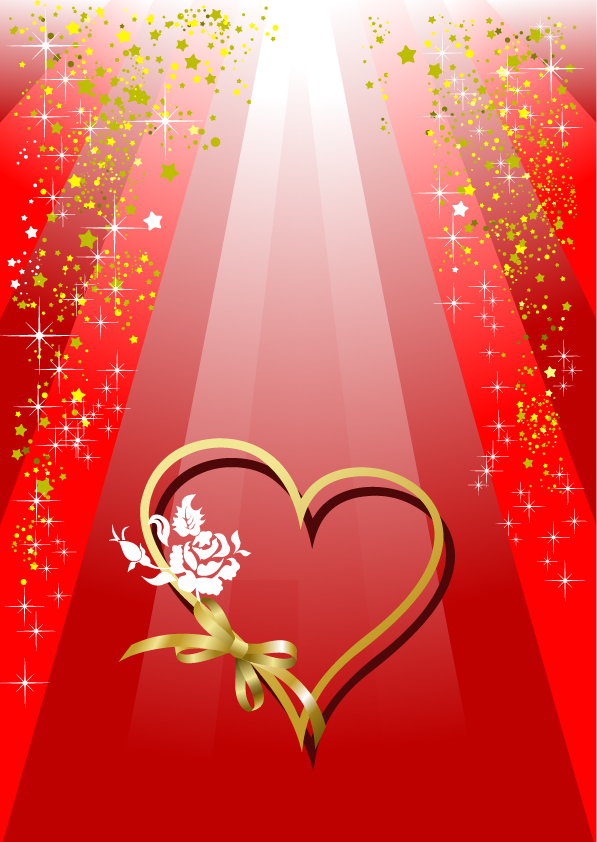 free vector Valentine day heartshaped and colorful ribbons vector background