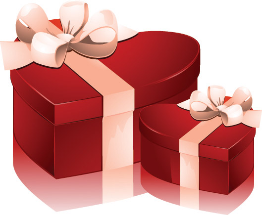 Valentine Day Heartshaped Gift Box Vector Free Vector 4vector
