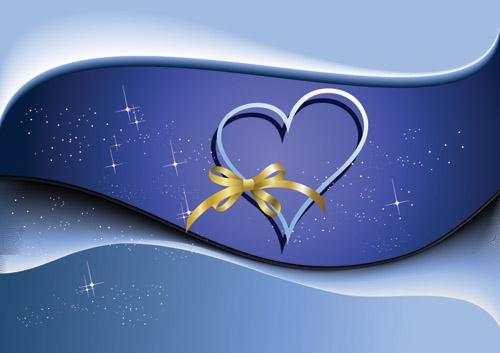 free vector Valentine day heartshaped vector background