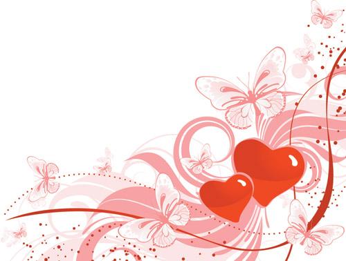 Valentine Day Heartshaped Vector Background Free Vector 4vector
