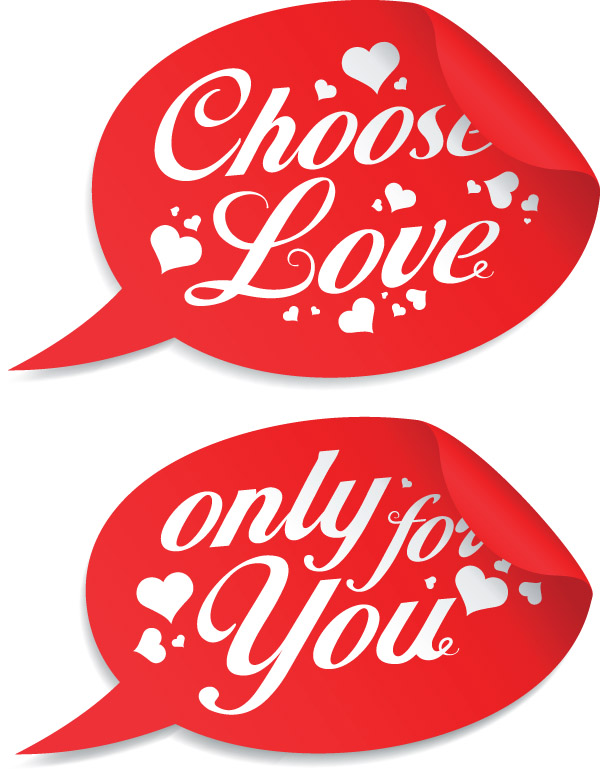 free vector valentine day special stickers vector - Valentines Day Stickers