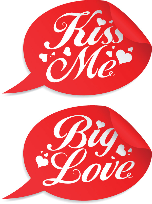 free vector Valentine day special stickers vector