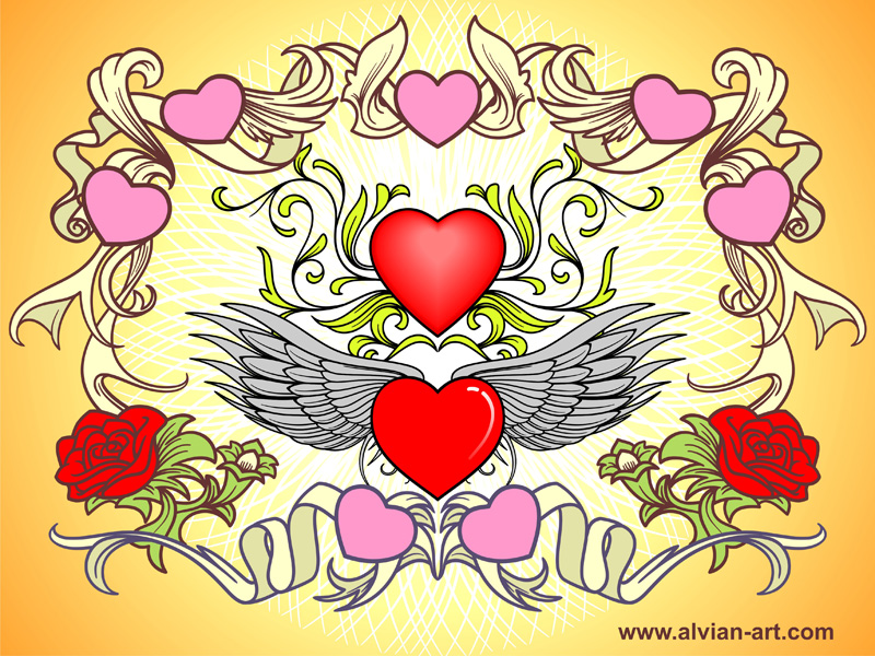 free vector Valentine Day Vector Art