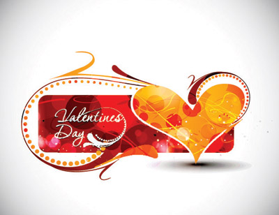 free vector Valentine day word theme vector