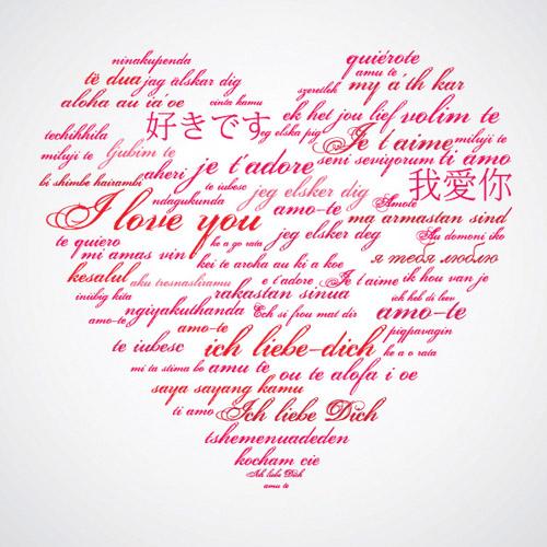 Valentine day wordart graphics vector Free Vector / 4Vector