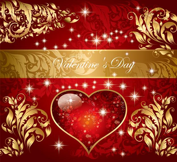 free vector Valentine gorgeous pattern vector