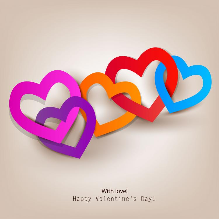 free vector Valentine label elements 01 vector