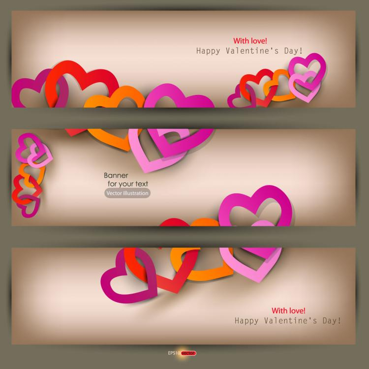free vector Valentine label elements 03 vector