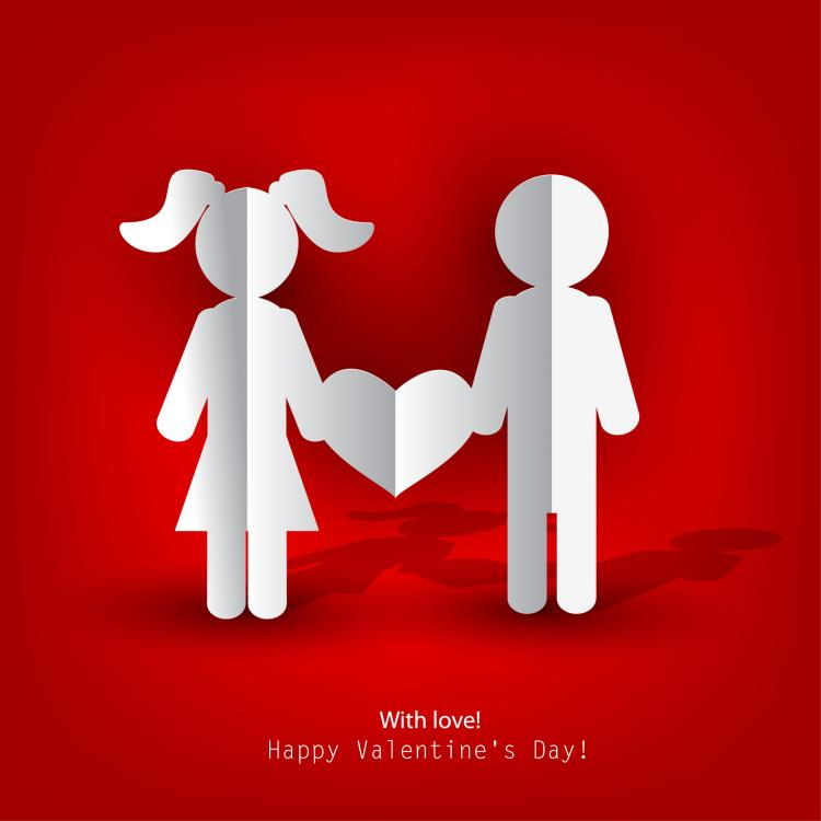 Free Vector Valentine Label Elements 04 Vector