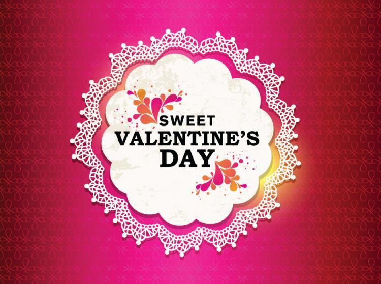 free vector Valentine labels background vector